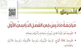 حل درس مراجعة ما درس في الفصل الأول دراسات إسلامية رابع ابتدائي