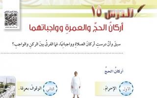 حل درس أركان الحج والعمرة وواجباتهما دراسات إسلامية سادس ابتدائي