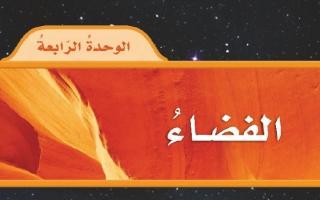 حل الوحدة الرابعة الفضاء علوم رابع ابتدائي