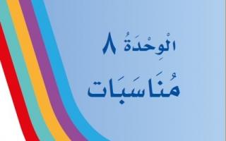 حل الوحدة الثامنة مناسبات لغتي أول ابتدائي